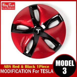 High-performance Wheel Hub Cover For Tesla MODEL 3 Modification Trim Rinng Decorative Exterior Modified Accessories Car Mats Home Decor & Accessories Color: Red Black 1 pcs Ships From: China