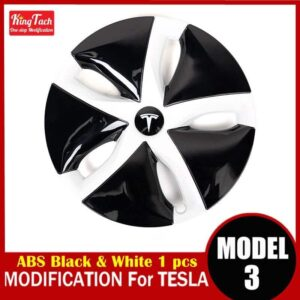 High-performance Wheel Hub Cover For Tesla MODEL 3 Modification Trim Rinng Decorative Exterior Modified Accessories Car Mats Home Decor & Accessories Color: Black White 1pcs Ships From: China