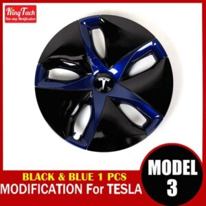 High-performance Wheel Hub Cover For Tesla MODEL 3 Modification Trim Rinng Decorative Exterior Modified Accessories Car Mats Home Decor & Accessories Color: Black Blue 1pcs Ships From: China