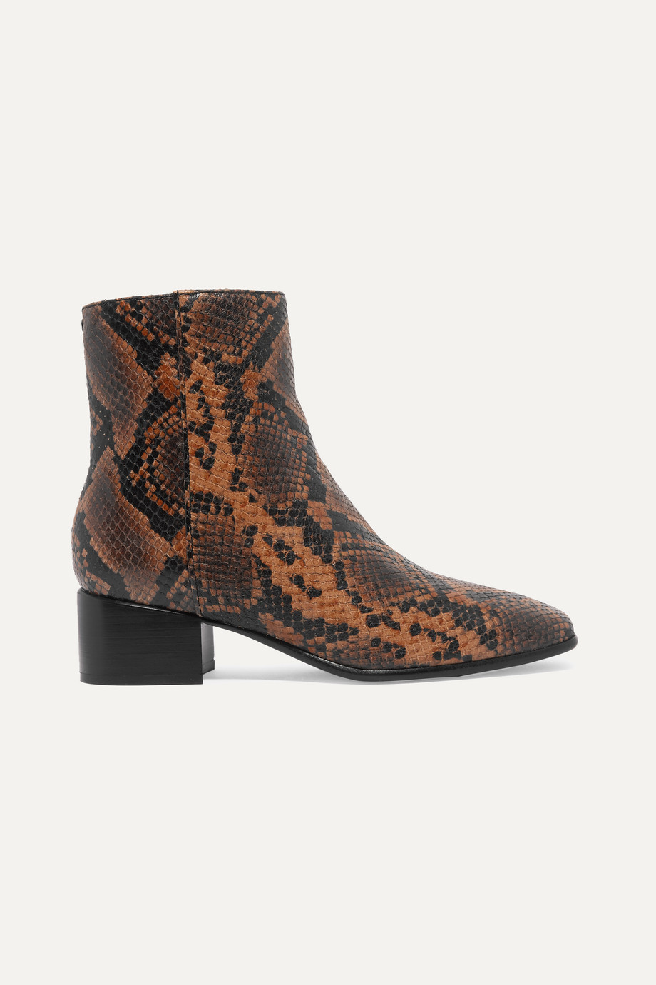 rag & bone Aslen snake-effect leather ankle boots