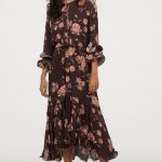 ootd - how to style your h&m-crêped ruffled dress - dark brown/wild roses