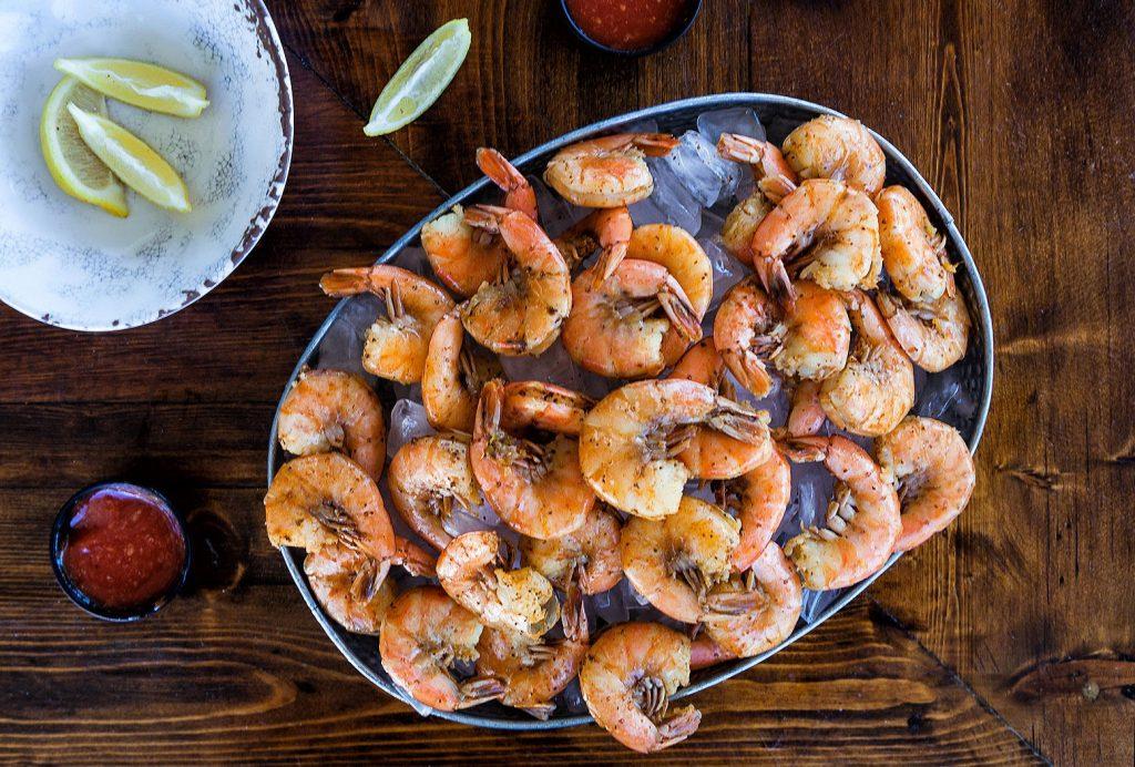 plate of shrimp in Islamorada