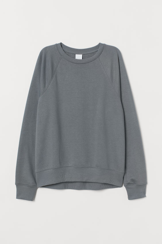 H&M Sweatshirt - Dark dusky green