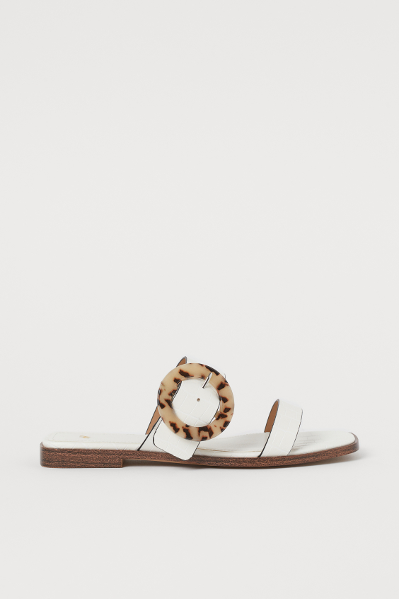 H&M Two Strap Slides - Cream