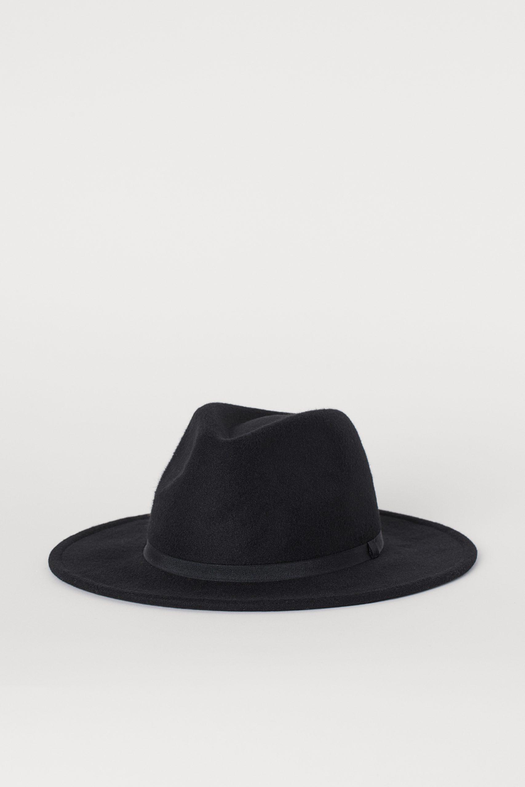 H&M Womens Felt Hat - Black