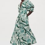 ootd - how to style your johanna ortiz x h&m-green leaf print linen-blend dress