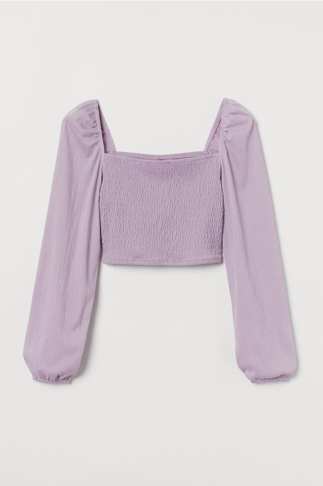 H&M Smocked Top - Light purple