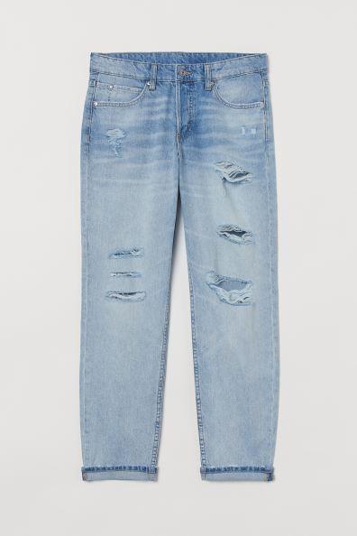 H&M Boyfriend Low Jeans - Light blue denim