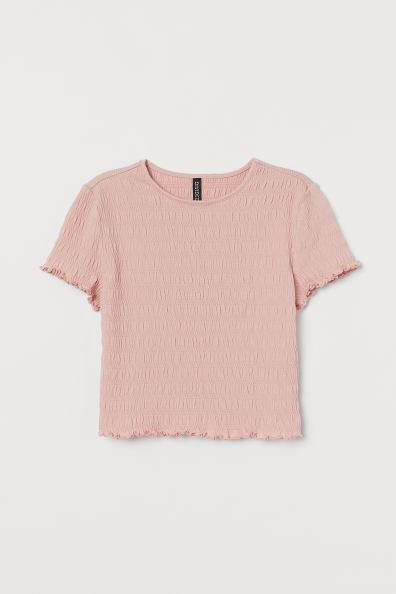 H&M Pink Cropped T-shirt