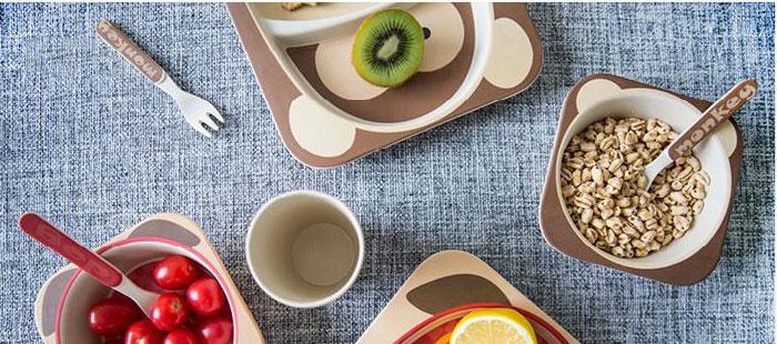 Детская посуда из волокон бамбука Yookidoo. Дитячий посуд американського бренду YOOKIDOO з Еко волокон бамбука