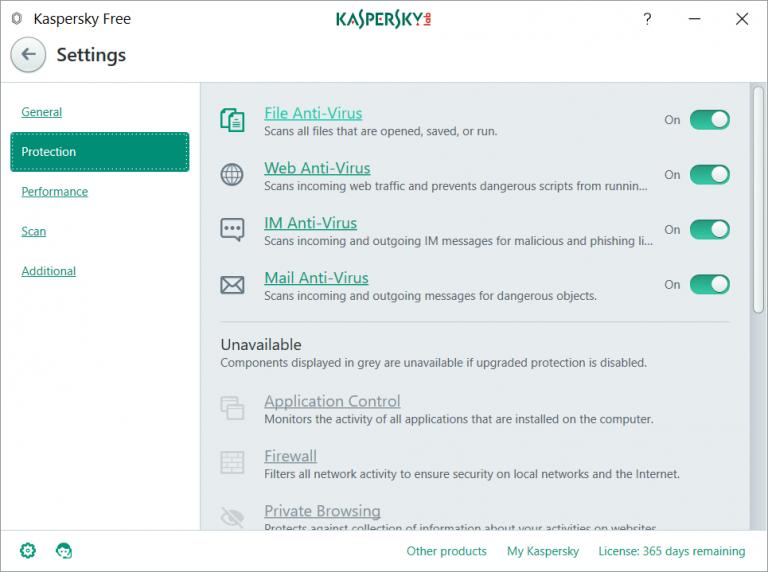 卡巴斯基免费电脑防护软件Kaspersky Free开放下载 2