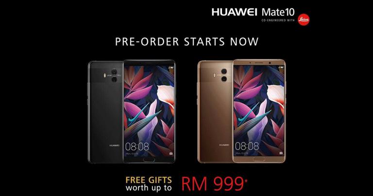 Huawei Mate 10本地售价公布,预购礼品价值RM999!