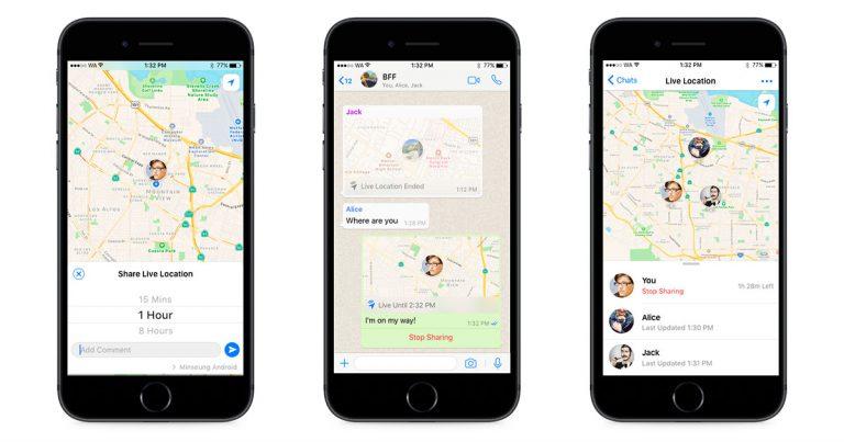 WhatsApp推出实时地理位置分享功能