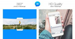 Facebook Messenger 加入360全景相片和高清视频分享功能
