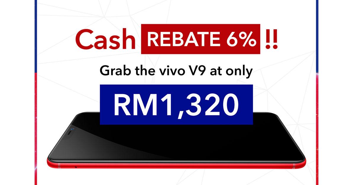VIVO V9即日起享有6%回扣