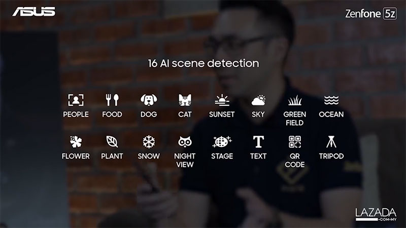ZenFone 5Z AI Scene detection