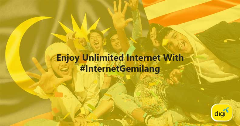 迎接国庆日的到来,Digi 让你享有12小时无限量上网服务