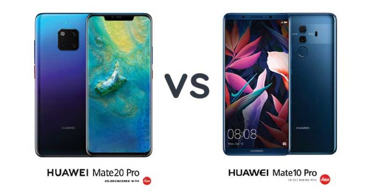 【一图看懂】对比Huawei Mate 20 Pro 与 Mate 10 Pro