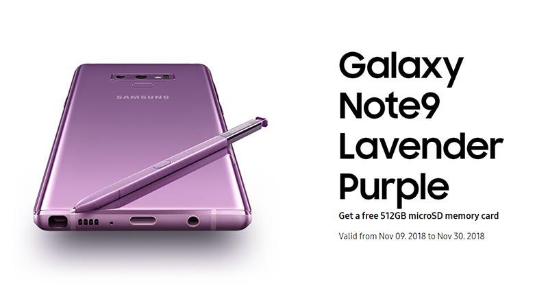 【更新:优惠延长】Samsung Galaxy Note9 薰衣紫登陆大马,限时优惠给足你1TB超大容量