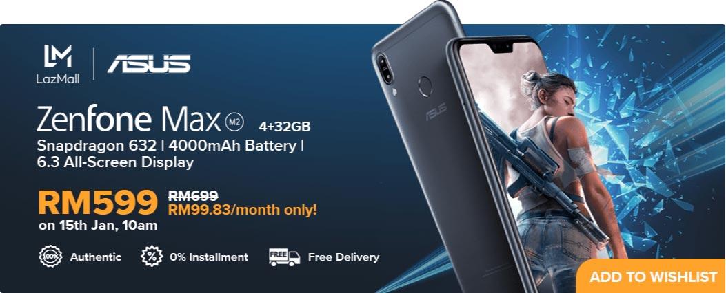 Asus ZenFone Max (M2):4000mAh大电量,2天长继航,1月15日限时优惠RM599! 10