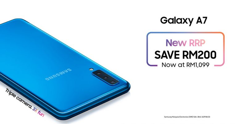 Read more about the article Galaxy A7即日起下调RM200,玩转三镜头的乐趣现只需RM1099!