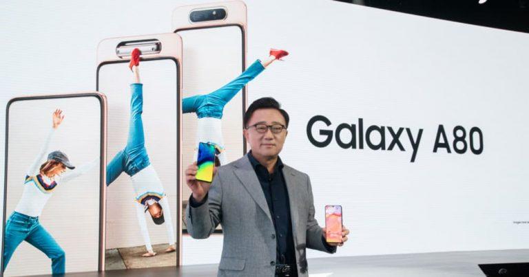 Galaxy A80是Samsung透过升降式旋转镜头带来屏占比更高的智能手机