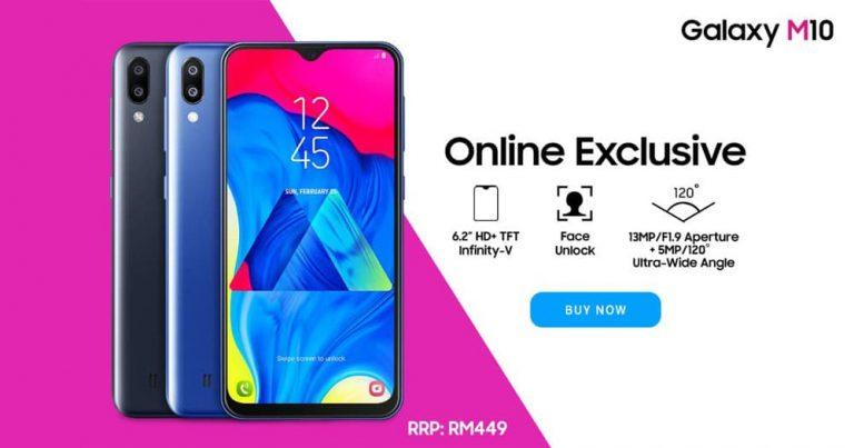 Samsung Galaxy M10 即日起透过网络渠道发售,售价RM449
