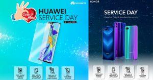 【更新:Honor机型】Huawei Service Day 提供多项免费服务,还有赠品待你领取!