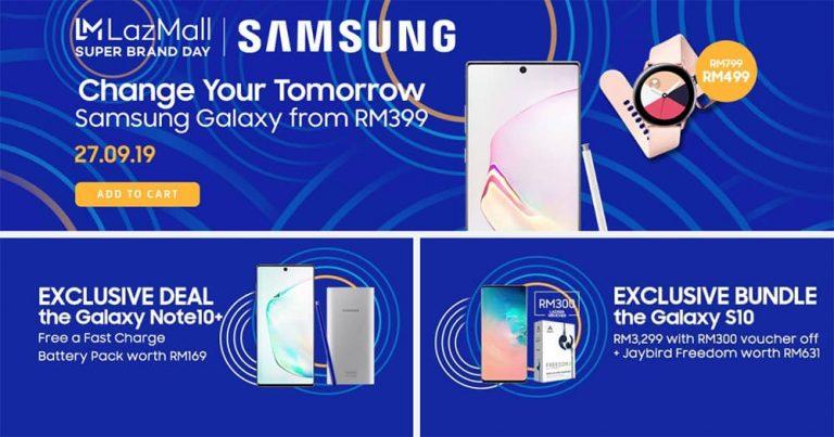 Samsung × LazMall Super Brand Day,多项诱人折扣 9 月 27 日 Lazada 展开