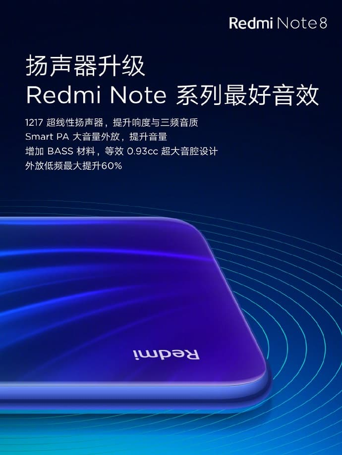 Redmi Note 8 扬声器