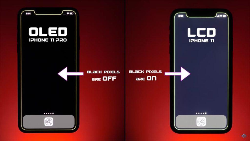 OLED display VS LCD display