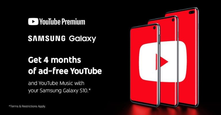 Samsung 派福利!指定 Galaxy 手机/平板电脑上享受无广告,可离线观看的 YouTube Premium,最多高达 4 个月!