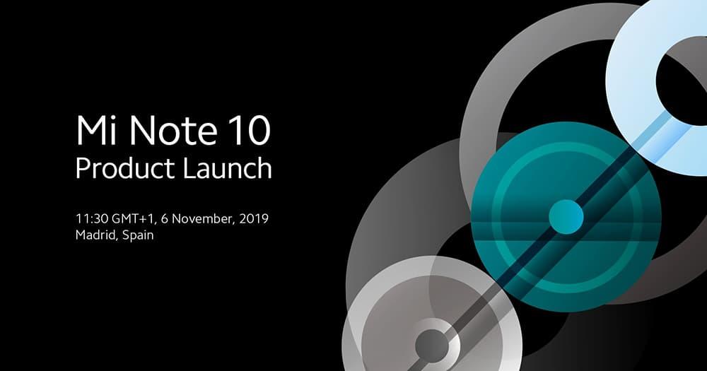 【更新:直播链接】小米 Note 10 发布日期敲定,首发一亿像素五摄十一月六日西班牙见