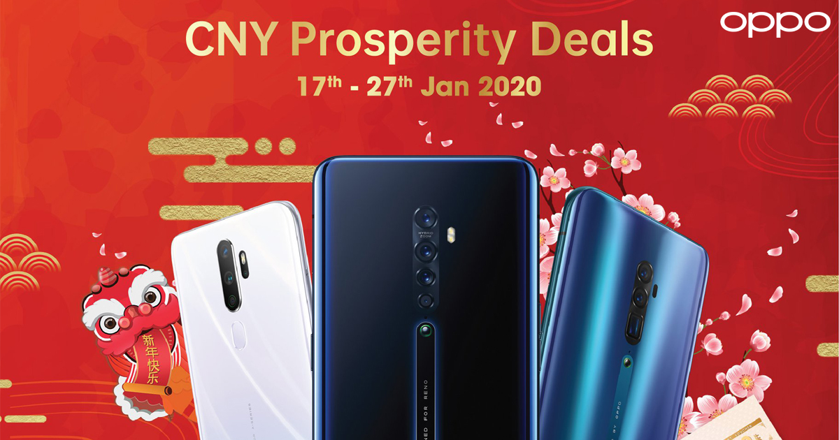 OPPO CNY Prosperity Deals 新年优惠,消费 RM1000 以上送礼盒,还能以优惠价入手 DJI OSMO Mobile 3 稳定器!