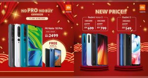 小米新春优惠,手机最低 RM549 起,买 Mi Note 10 Pro 送手机,还有折扣 RM900 的一日限定 Flash Sales !