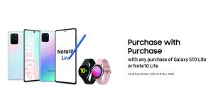 Samsung 推促销:凡购买 Galaxy S10 Lite / Galaxy Note 10 Lite 就能获得 RM200 折扣购买 Galaxy Watch Active 2