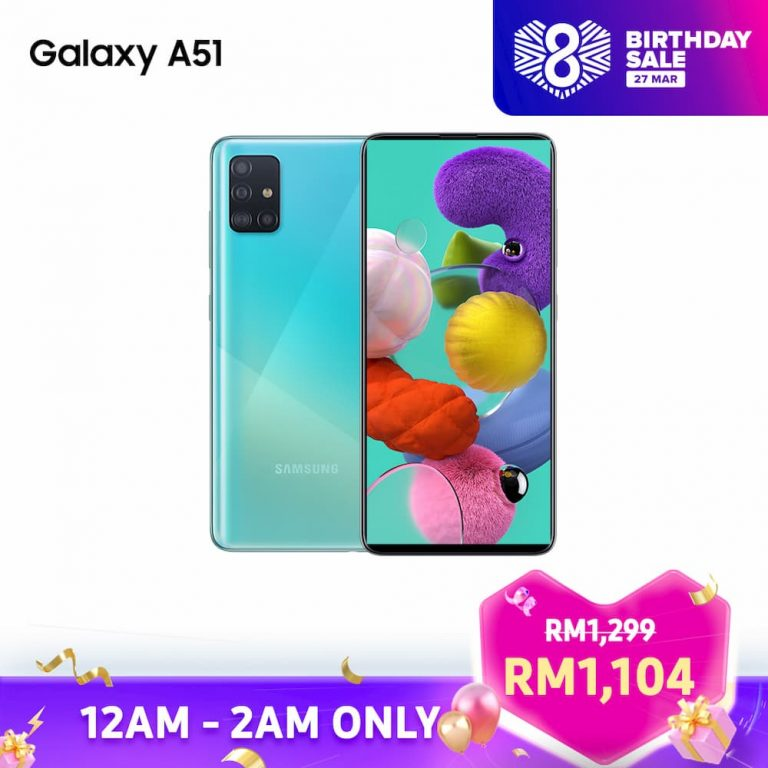 Samsung Galaxy A51 Lazada 8th Birthday Sales