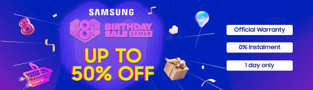 Samsung Lazada 8th Birthday Sales