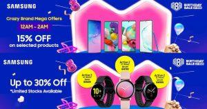 Lazada 八周年庆促销:Samsung 智能手机 15% 折扣,智能手表折扣高达 30%
