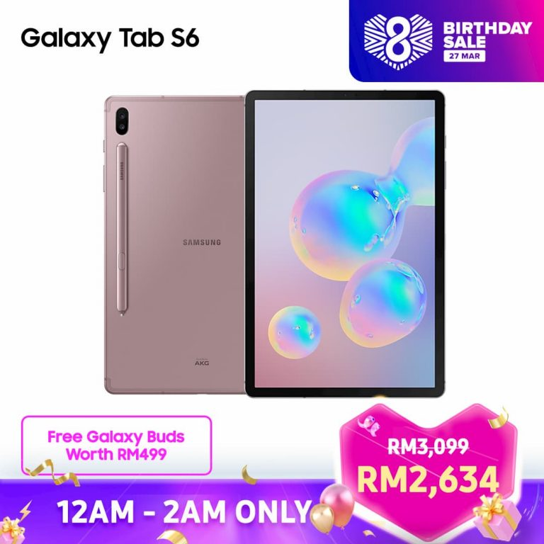 Samsung Galaxy Tab S6 Lite Lazada 8th Birthday Sales