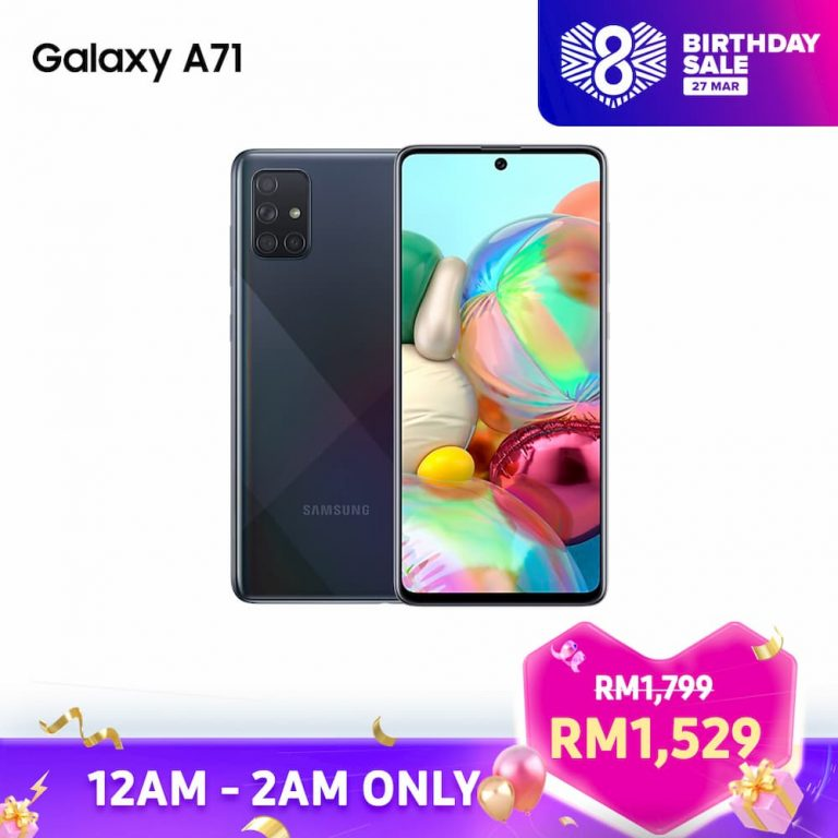 Samsung Galaxy A71 Lazada 8th Birthday Sales