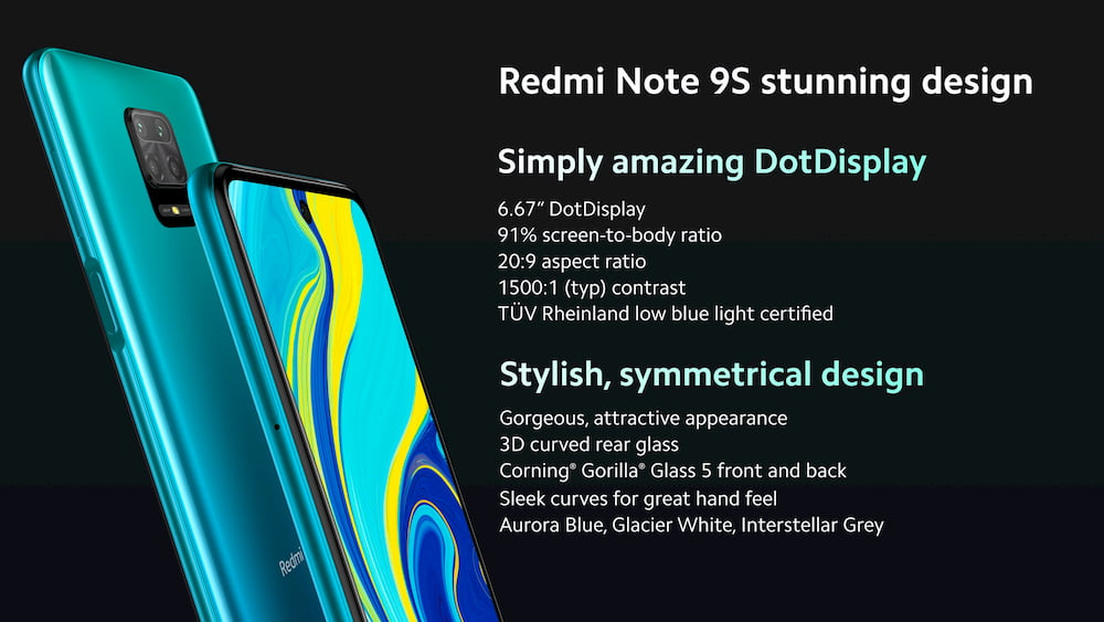 Redmi Note 9s 设计
