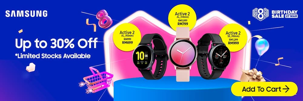 Samsung Galaxy Watch Lazada 8th Birthday Sales