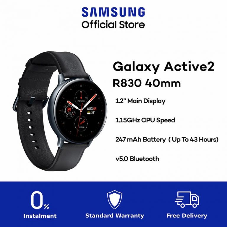 Samsung Galaxy Watch Active 2 40mm Stainless Steel-2