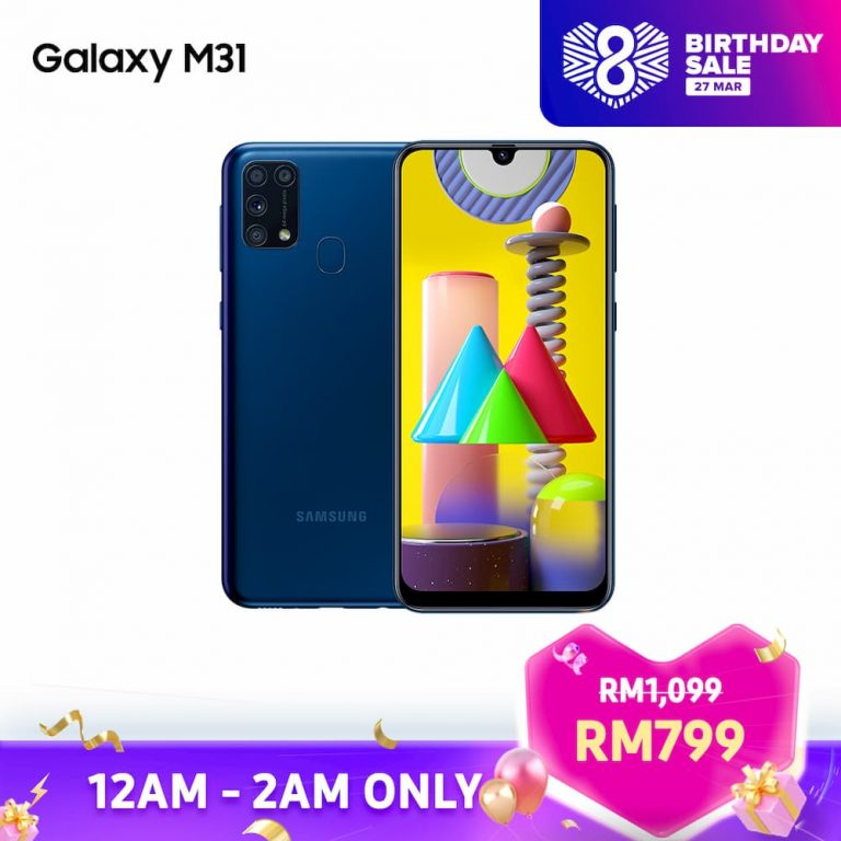 Samsung Galaxy M31 Lazada 8th Birthday Sales