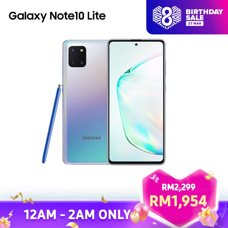 Samsung Galaxy Note10 Lite Lazada 8th Birthday Sales