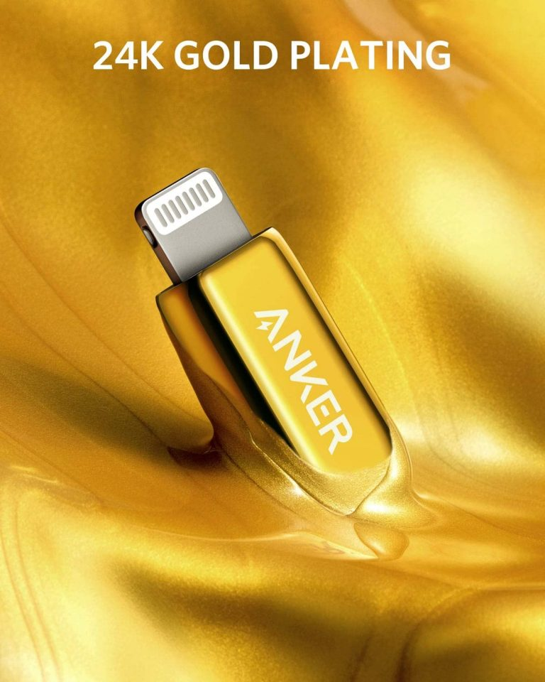 Anker Special Edition 24K Gold Powerline+ III USB C to Lightning Cable