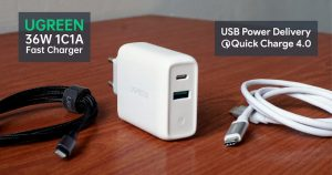 UGREEN 36W 双口 USB Power Delivery / Quick Charge 充电器体验