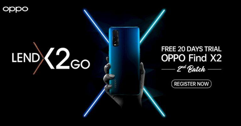 OPPO LendX2Go 试用计划回归:20 天体验 OPPO Find X2,还能以折扣价购买手机