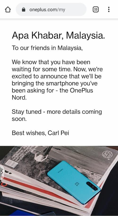 OnePlus Malaysia 官网
